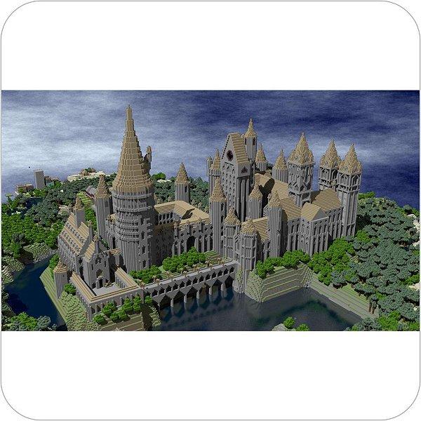 Painel de Festa Infantil Minecraft - Castelo