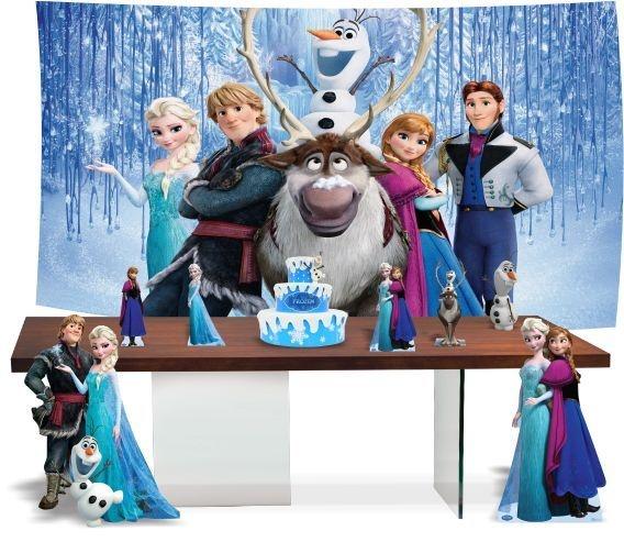 Kit Festa Frozen + Bolo Cenográfico