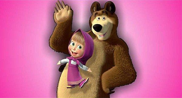 Painel decorativo Masha e o Urso para festa infantil