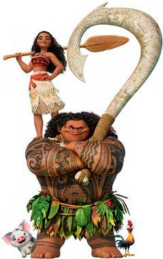 Moana e Maui para decoração de festa infantil