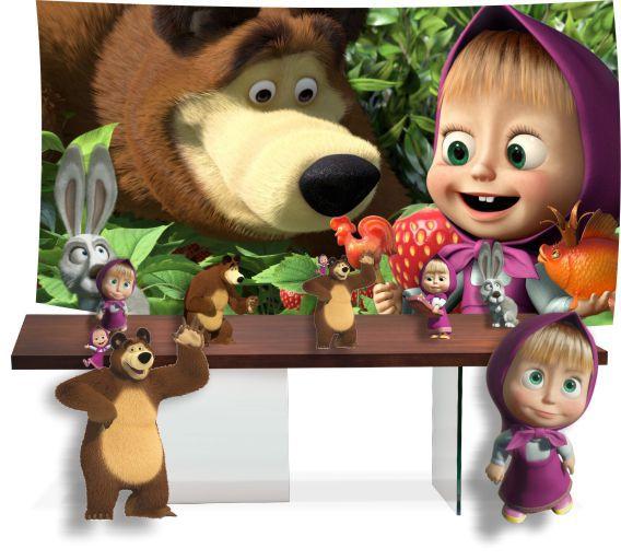 Kit Festa Masha e o Urso pronto para uso