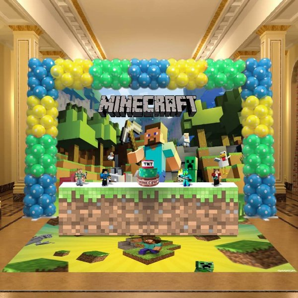 Kit Festa 3D Minecraft