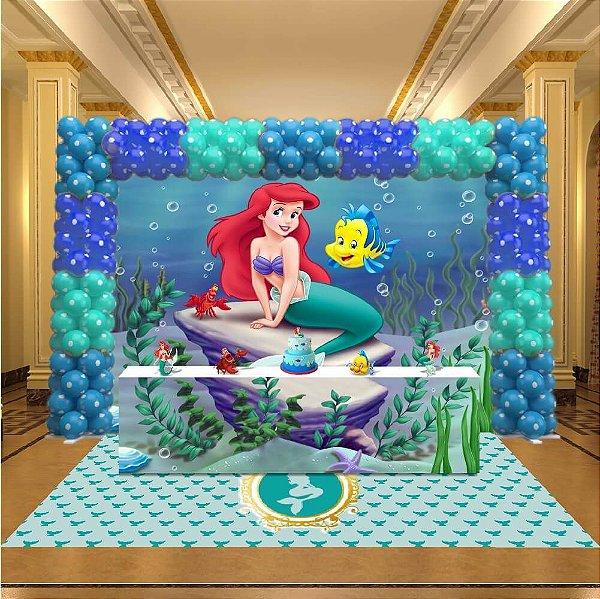 Kit Festa 3D A Pequena Sereia