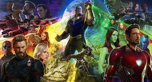 Painel de Festa Vingadores Guerra Infinita Thanos
