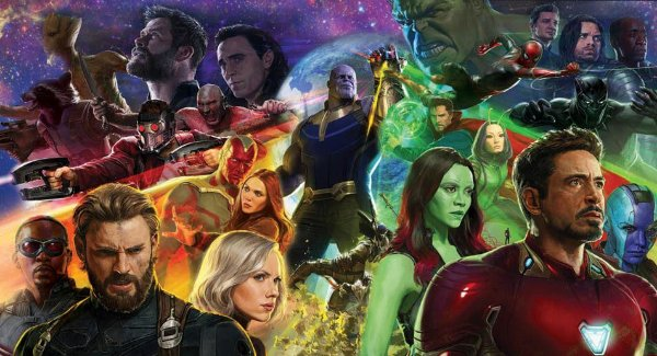 Festa Vingadores Guerra Infinita Thor e Thanos