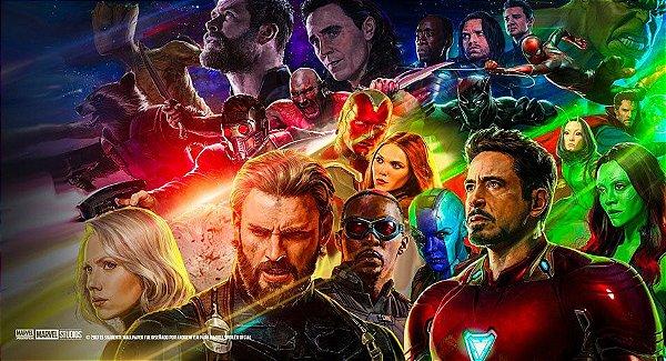 Painel Vingadores Guerra Infinita Thanos e Hulk