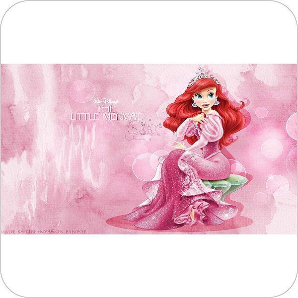 Painel Para Festa Infantil - A Pequena Sereia - Vestido Rosa