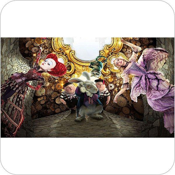 Painel de Festa Infantil Alice Através do Espelho - Vilões