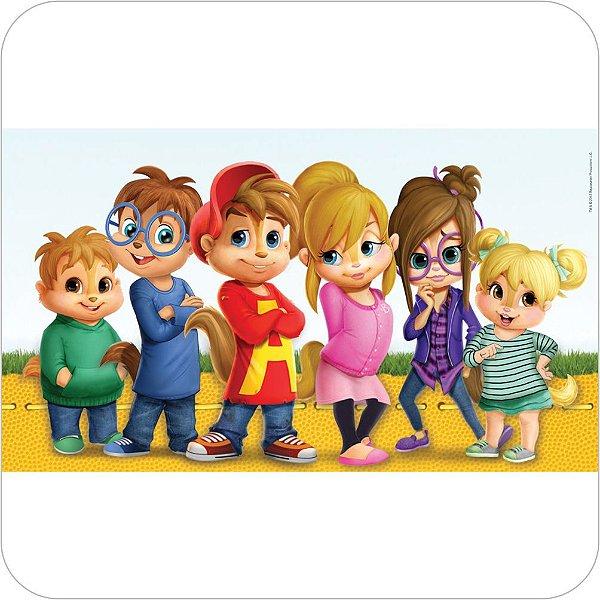 Painel de Festa Infantil Alvin e os Esquilos Nickelodeon - Grupo