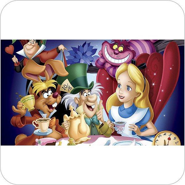 Painel de Festa Infantil Alice no País das Maravilhas - Personagens do Desenho