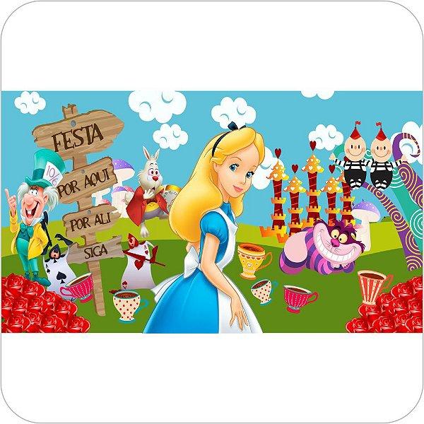 Painel de Festa Infantil Alice no País das Maravilhas - Festa