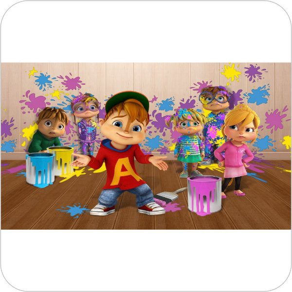 Painel de Festa Infantil Alvin e os Esquilos Nickelodeon - Travessuras