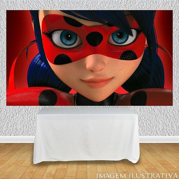 Painel de Festa Infantil Miraculous Ladybug - Rosto
