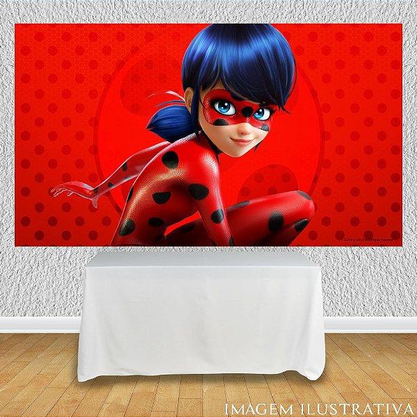Painel de Festa Infantil Miraculous Ladybug Disfarce
