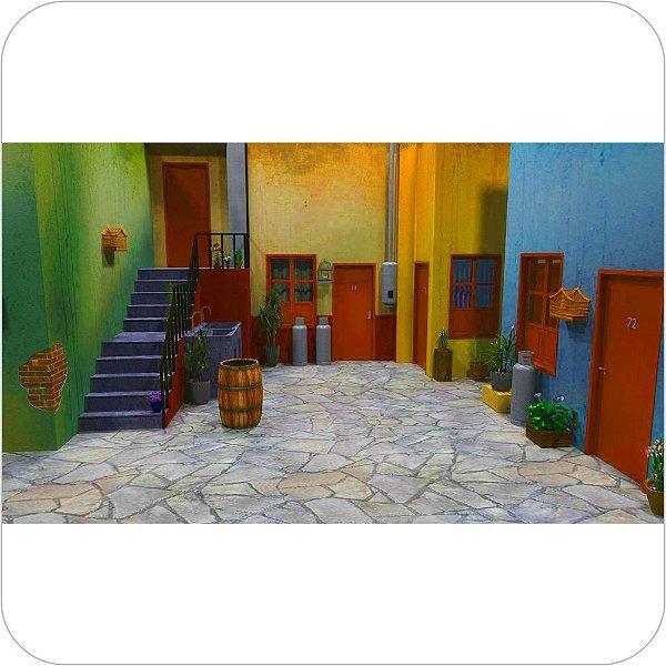 Painel de Festa Infantil Chaves - Vila