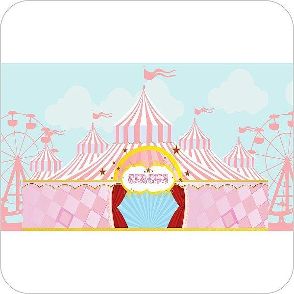 Painel de Festa Infantil Circo Rosa