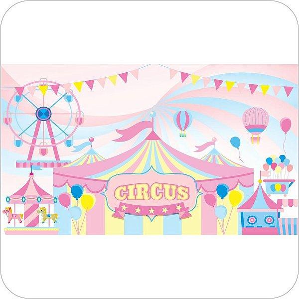 Painel de Festa Infantil Circo Rosa II