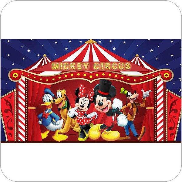 Painel de Festa Infantil Circo do Mickey e Sua Turma