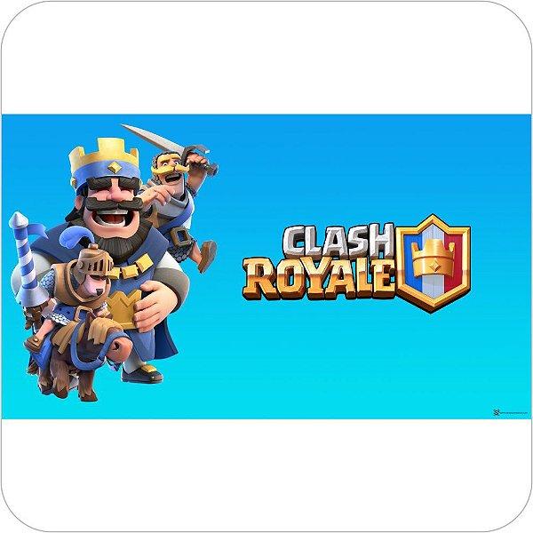 Painel de Festa Infantil Clash Royale - Rei, Cavaleiro e Príncipe
