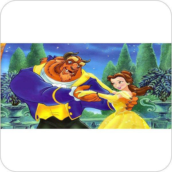 Painel de Festa Infantil a Bela e a Fera Dança Romântica