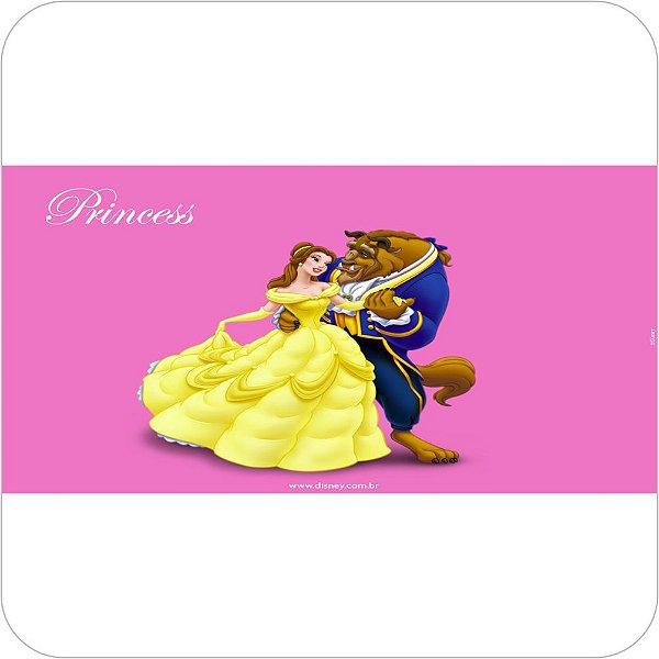 Painel de Festa Infantil A Bela e a Fera Fundo Rosa