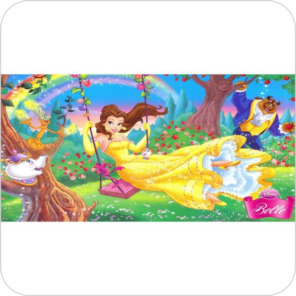 Painel de Festa Infantil A Bela e a Fera no Bosque