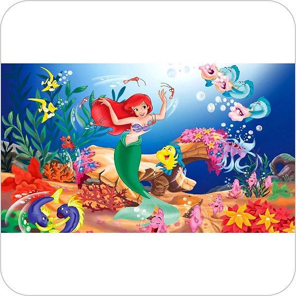 Painel Para Festa Infantil - A Pequena Sereia e Seus Amigos