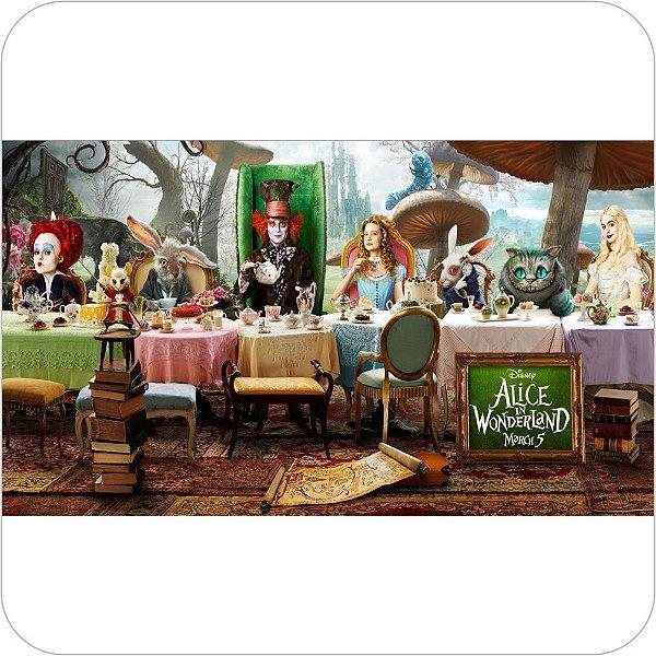 Painel de Festa Infantil Alice no País das Maravilhas - Mesa