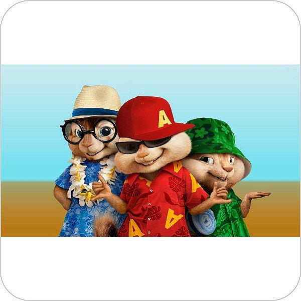 Painel de Festa Infantil Alvin e os Esquilos na Praia