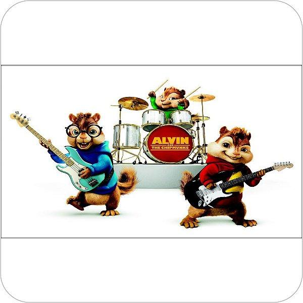 Painel de Festa Infantil Alvin e os Esquilos Tocando