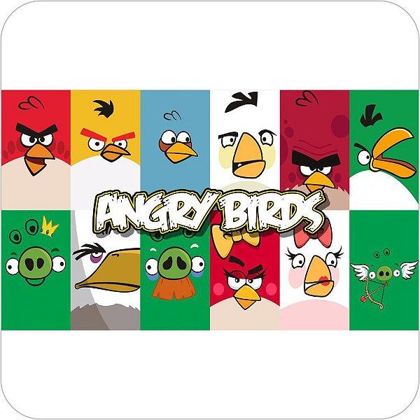 Painel de Festa Infantil Angry Birds Faces