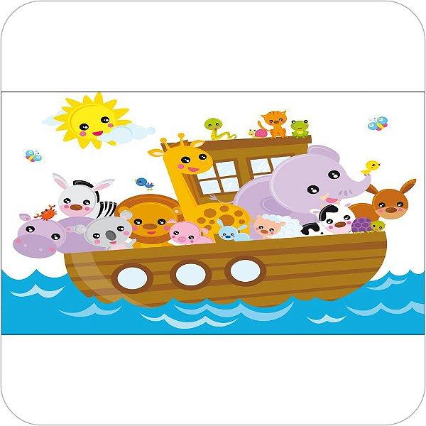 Painel de Festa Infantil Arca de Noé - Desenho Cute