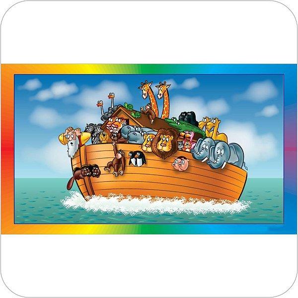 Painel de Festa Infantil Arca de Noé com Bordas