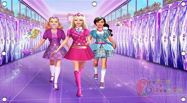 Painel para decoração de festa infantil - Barbie moda e magia