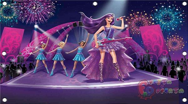 Painel de Festa Barbie Pop Star