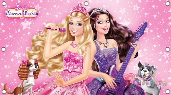 Painel de festa infantil - Barbie Pop Star