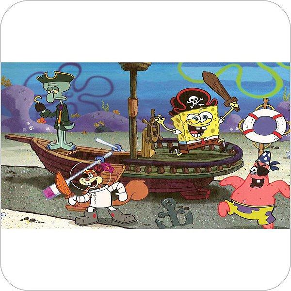 Painel de Festa Infantil Bob Esponja Piratas