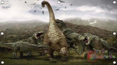 Painel para decoração de festa infantil Dinossauros