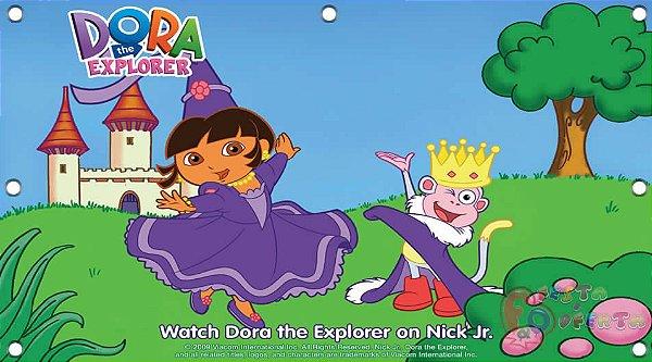 Painel para decoração de festa infantil - Princesa Dora Aventureira e Príncipe Botas