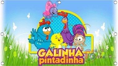 Painel de Aniversario Galinha Pintadinha