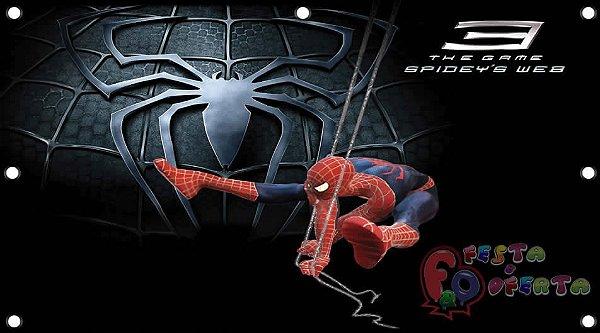 Painel para decoração de festa infantil - Homem-Aranha