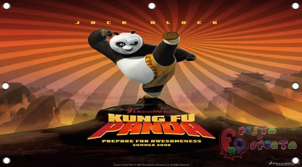 Painel para decoração de festa infantil - Kung fu Panda