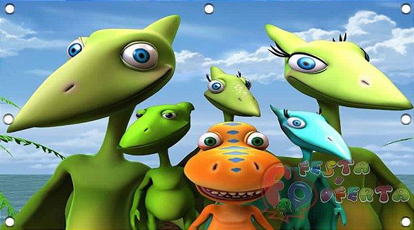 Painel para decoração de festa infantil - DinoTrem