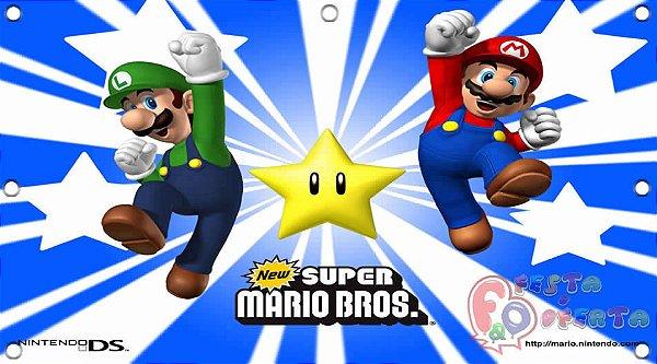 Painel para decoração de festa infantil - Mario Bros e Kart