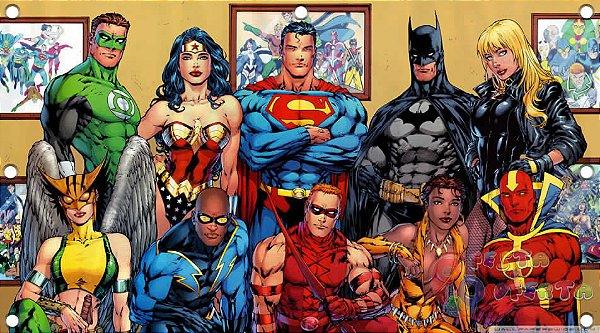 Painel para decoração de festa infantil - Marvel Herois