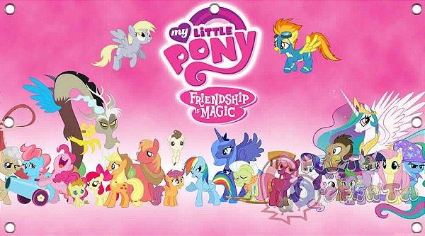 Painel para decoração de festa infantil  -  My Little Pony