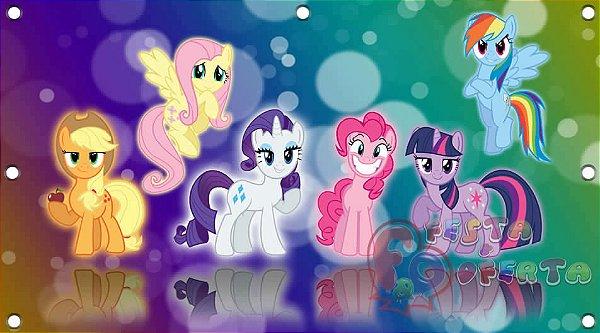 Painel de Festa My Little Pony Roxo e Verde