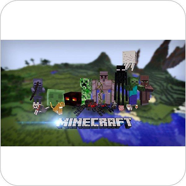 Painel de Festa Infantil Minecraft - Todos os Personagens