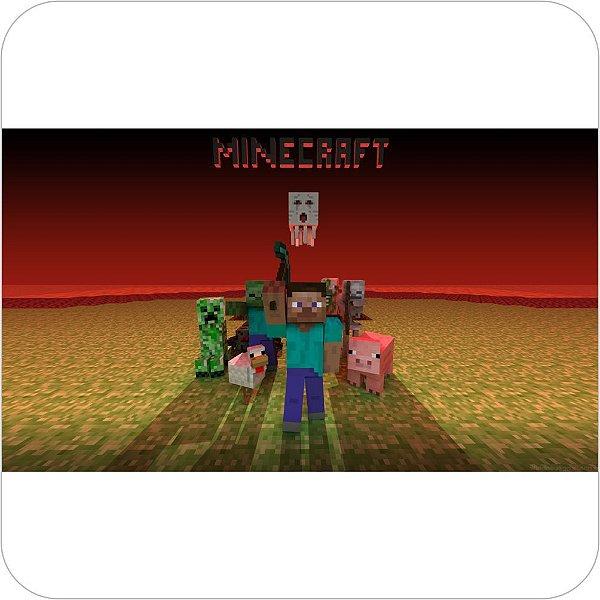 Painel de Festa Infantil Minecraft - Nether