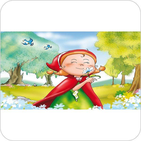 Painel de Festa Infantil Chapeuzinho Vermelho - Flores